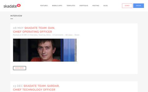 Screenshot of Team Page skadate.com - Interview | SkaDate Dating Software and Mobile Dating Apps - captured Aug. 17, 2016