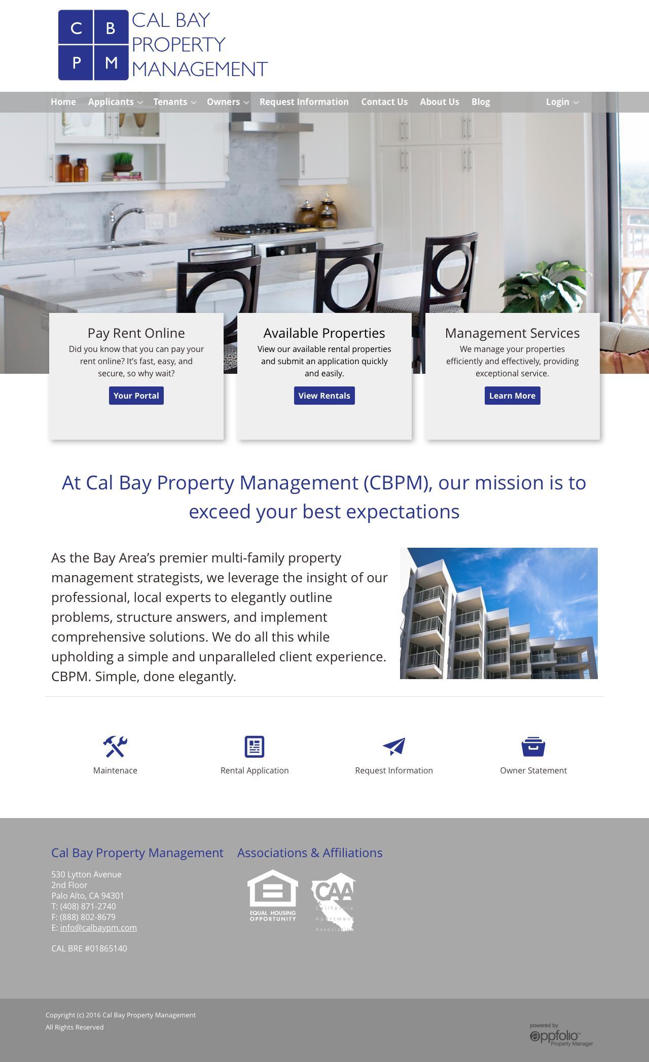 Web Design Example | A page on calbaypm com | Crayon