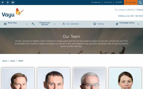 Screenshot of Team Page vayu.ie - Team - Vayu - captured Nov. 12, 2017