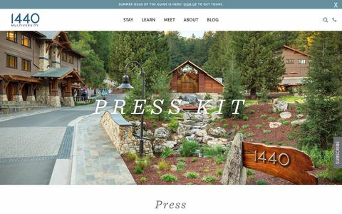 Screenshot of Press Page 1440.org - Press - 1440 Multiversity - captured June 19, 2018