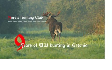 Screenshot of Home Page nordichuntingclub.com - Nordic Hunting Club - captured Sept. 30, 2014