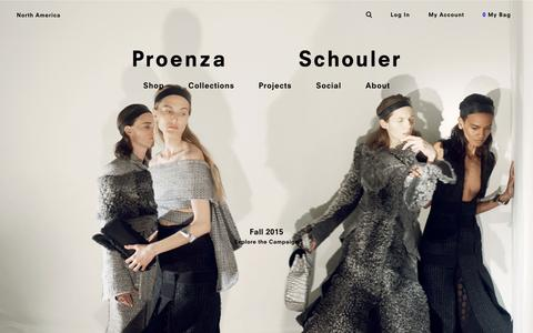 Screenshot of Home Page proenzaschouler.com - Proenza Schouler - captured July 25, 2015
