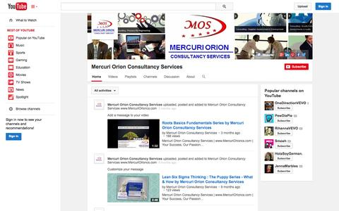 Screenshot of YouTube Page youtube.com - Mercuri Orion Consultancy Services  - YouTube - captured Oct. 22, 2014