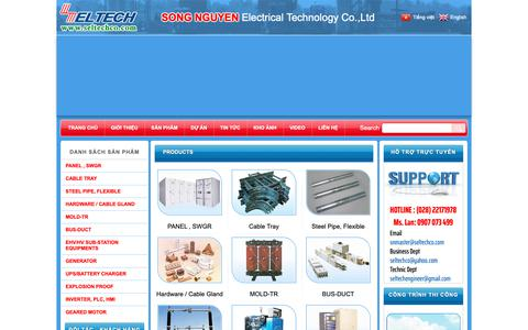 Screenshot of Products Page seltechco.com - Products | ĐIỆN SONG NGUYỄN - captured Sept. 30, 2018