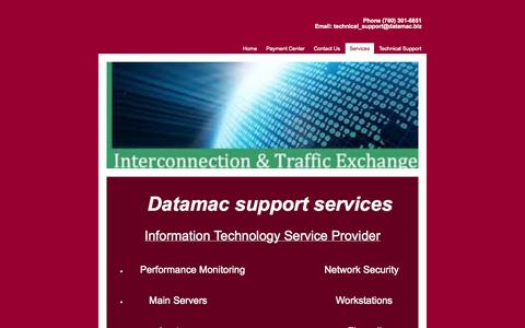 Screenshot of Services Page datamac.biz - Services - Datamac Computing Systems - captured Oct. 5, 2014