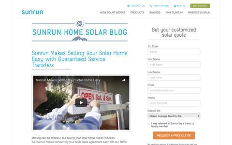Screenshot of Blog sunrun.com - Power Forward Blog | Sunrun - captured Sept. 2, 2016