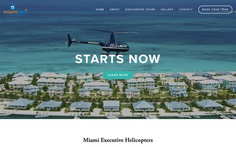 Screenshot of Home Page miamiheli.com - Miami Executive Helicopter - captured Sept. 28, 2018