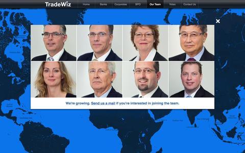 Screenshot of Team Page tradewiz.net - TradeWiz - captured Oct. 7, 2014