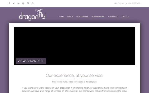 Screenshot of Services Page dragonfly.co.uk - Our Services | Digital Video Service | Dragonfly - captured March 13, 2018