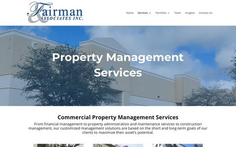 Screenshot of Services Page fairmanassociates.com - Services   Fairman and Associates - captured Oct. 10, 2018
