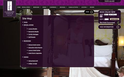 Screenshot of Site Map Page clontarfcastle.ie - Site map - captured Jan. 29, 2016