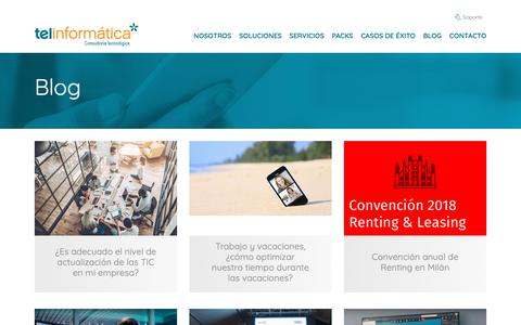Screenshot of Blog tii.es - Blog - Telinformática - captured Oct. 20, 2018