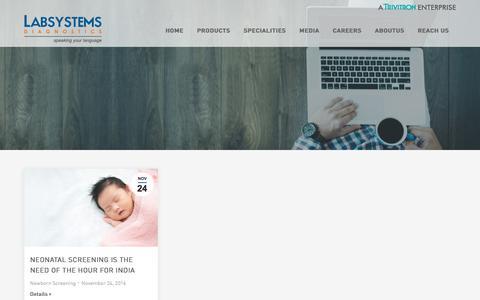 Screenshot of Blog labsystemsdx.com - Labsystems Diagnostics Oy Blog – High quality diagnostic development - captured July 12, 2017