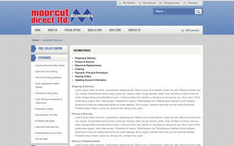 Screenshot of Support Page moorcut.co.uk - Moorcut Direct -  Customer Service - captured Sept. 28, 2018