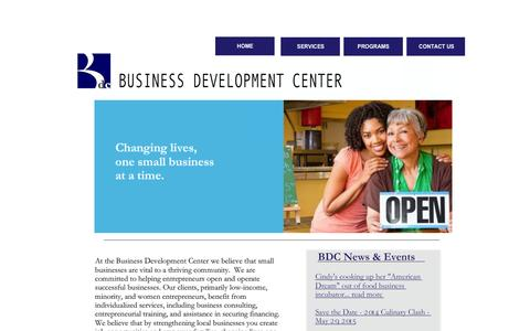 Screenshot of Home Page wccbdc.org - Business Development Center - captured Feb. 6, 2015