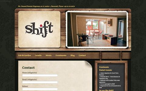 Screenshot of Contact Page shiftpub.ro - Contact «  Shift Pub - captured Oct. 26, 2014