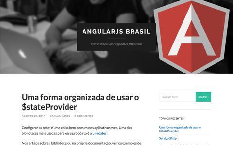 Screenshot of Home Page angularjsbrasil.com.br - AngularJs Brasil   Referência de AngularJs no Brasil - captured Sept. 23, 2014