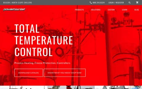 Screenshot of Home Page powerblanket.com - Industrial and Process Heating | Powerblanket | Total Temperature Control - captured Nov. 5, 2018