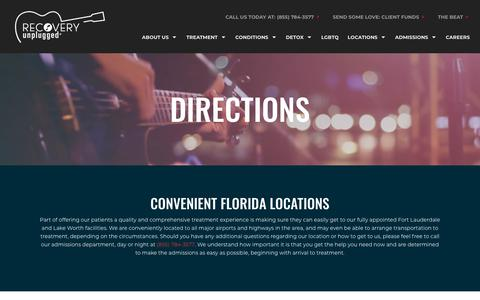 Screenshot of Maps & Directions Page recoveryunplugged.com - Directions to Recovery Unplugged Fort Lauderdale   Treatment Center - captured Sept. 27, 2018