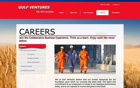 Screenshot of Jobs Page gulfventuresltd.com - GULF VENTURES | Careers - captured Oct. 21, 2016