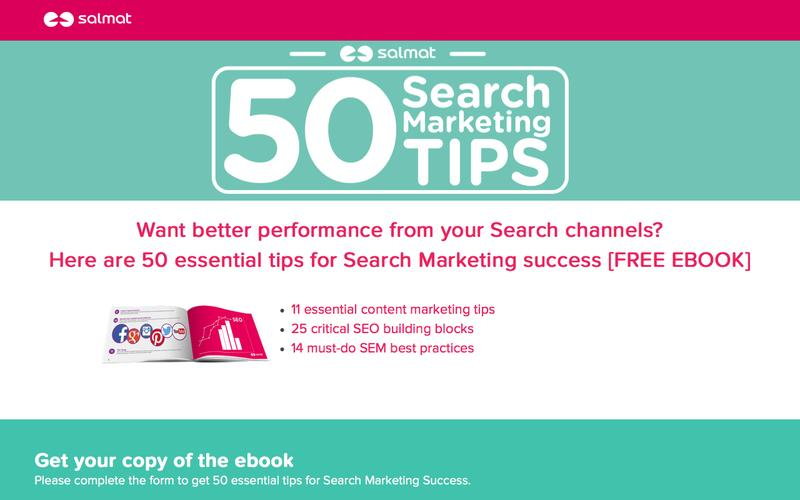 50 Search Marketing Tips eBook - Salmat Search Marketing Solutions