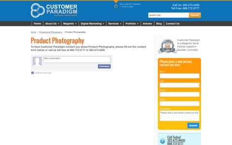 Screenshot of Products Page customerparadigm.com - Customer Paradigm | Professional Product Photography - captured Sept. 19, 2014