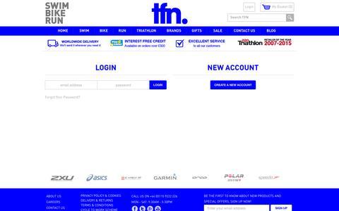 Screenshot of Login Page tfn.uk.com - Customer Login - captured June 25, 2016