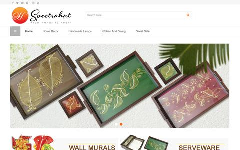 Screenshot of Home Page spectrahut.com - Indian handicrafts online traditional indian handicrafts online shopping for indian handicrafts - Shop for Indian Handicrafts products Online - captured Sept. 21, 2018