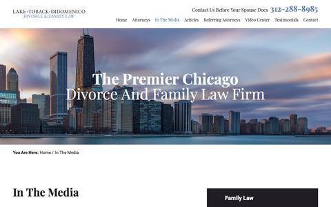 Screenshot of Press Page laketoback.com - In The Media | Lake Toback DiDomenico | Chicago - captured Dec. 7, 2018
