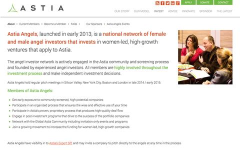 Screenshot of About Page astia.org - About : Astia – Propelling Women's Full Participation as Entrepreneurs & Leaders - captured Sept. 24, 2014