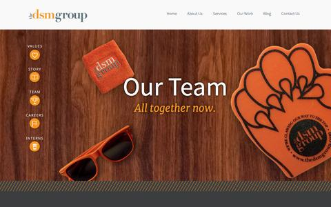 Screenshot of Team Page thedsmgroup.com - Marketing Agency - Northern NJ, Bergen County | The DSM Group - Our Team - captured Sept. 19, 2014