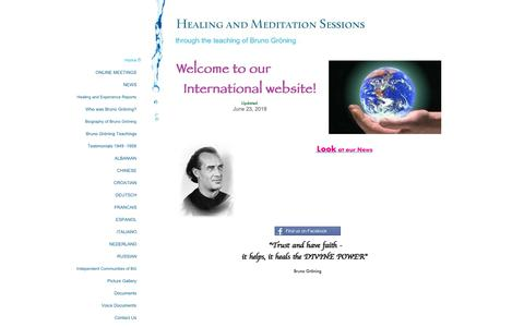 Screenshot of Home Page help-and-healing-sessions.com - Healing and Meditation Sessions - Home - captured June 26, 2018