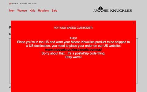 Screenshot of FAQ Page mooseknucklescanada.com - FAQ: Frequently Asked Questions | Moose Knuckles - captured Dec. 13, 2016