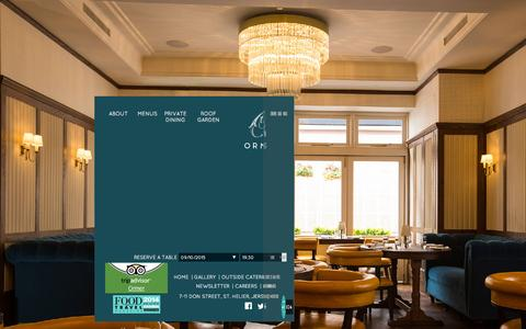 Screenshot of Home Page ormerjersey.com - Ormer Restaurant in Jersey | Shaun Rankin | - captured Oct. 9, 2015