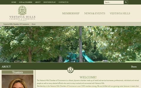 Screenshot of About Page vestaviahills.org - About Vestavia Hills Chamber of Commerce - captured Oct. 19, 2018