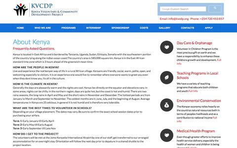 Screenshot of FAQ Page kvcdp.org - KVCDP Travel Information - captured Sept. 24, 2018