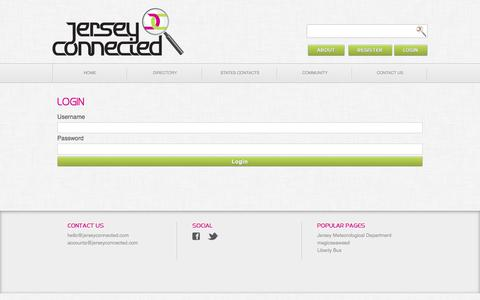 Screenshot of Login Page jerseyconnected.com - Jersey Connected | Login - captured Sept. 20, 2018