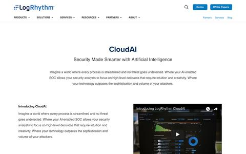 CloudAI, Security Enabled by Artificial Intelligence | LogRhythm