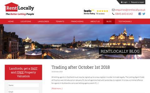 Screenshot of Blog rentlocally.co.uk - Blog - RentLocally - captured Oct. 20, 2018