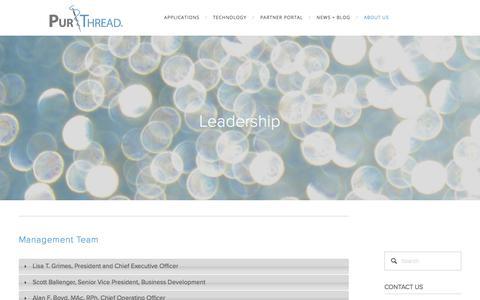 Screenshot of Team Page purthread.com - Leadership — PurThread - captured Sept. 19, 2017