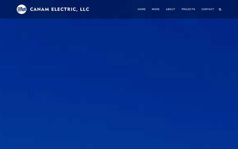 Screenshot of Home Page canamelectric.com - Canam Electric, LLC | Electrical Contracting | Florida - captured Jan. 24, 2016