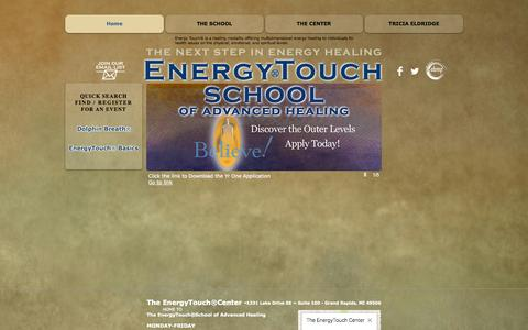 Screenshot of Home Page energytouchschool.com - Energy Touch School of Advanced Healing - captured Oct. 2, 2014