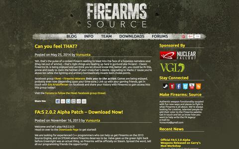 Screenshot of Home Page firearms-source.com - FIREARMS: SOURCE - captured Oct. 9, 2015