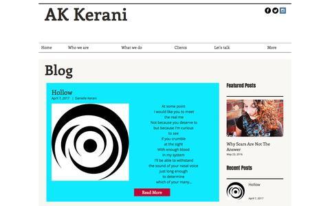 Screenshot of Blog akkerani.com - akkerani | Blog - captured May 28, 2017