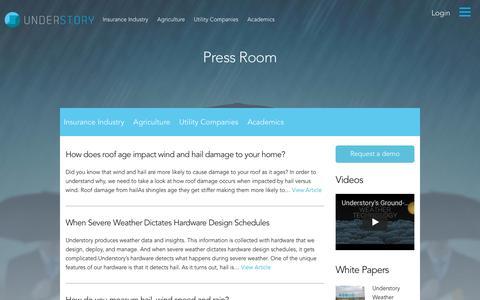 Screenshot of Blog understoryweather.com - Blog - Understory Weather : Understory Weather - captured Oct. 26, 2017
