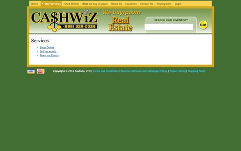 Screenshot of Services Page cashwiz.com - Services | CashWiz - captured Oct. 2, 2014