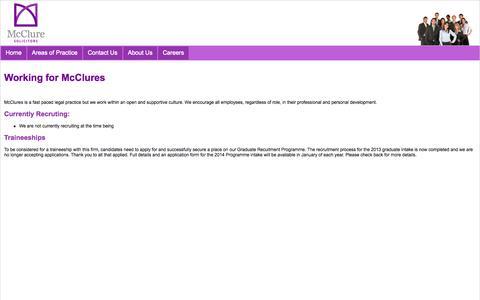 Screenshot of Jobs Page mcclure-solicitors.co.uk - McClure Solicitors - captured Oct. 26, 2014