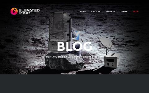 Screenshot of Blog elevatedinterest.com - Elevated Blog - Elevated Interest - captured March 24, 2016