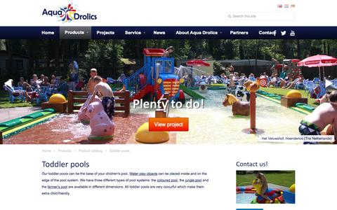 Screenshot of Products Page aquadrolics.com - Aqua Drolics - Toddler pools - captured Sept. 30, 2014