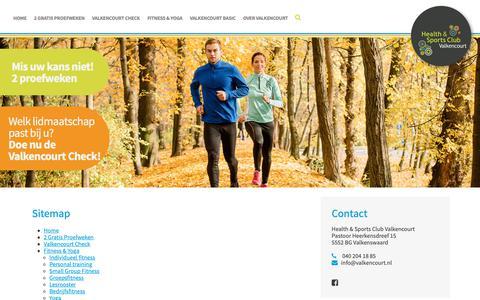 Screenshot of Site Map Page valkencourt.nl - Valkencourt | Dé sportschool voor fitness in Valkenswaard - Sitemap - captured Nov. 10, 2018